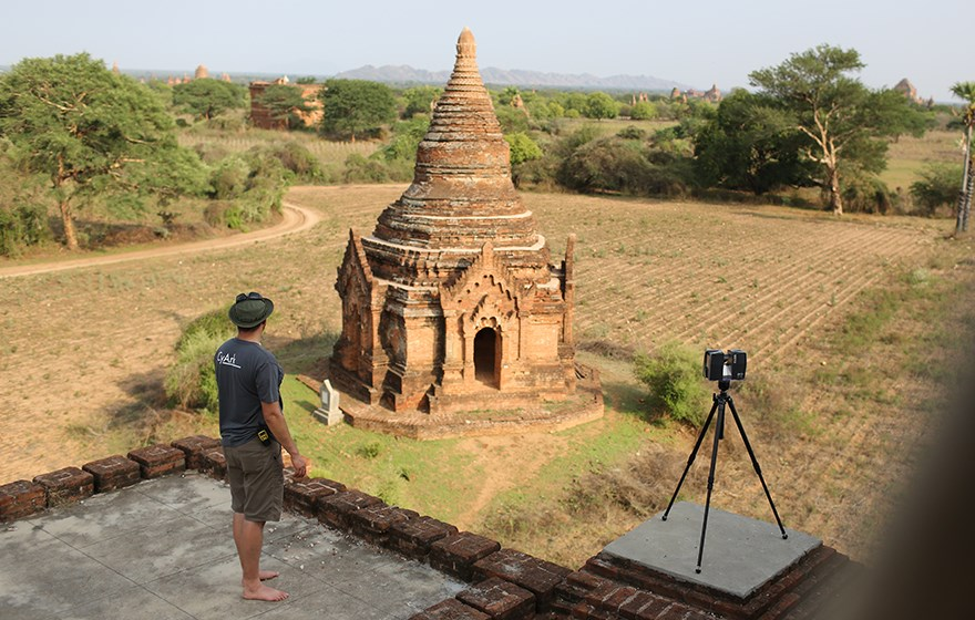 3D Scanning of a Bagan in Myanmar